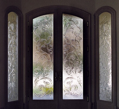 Concepts in glass custom door inserts decorative glass for Decorative glass for entry doors